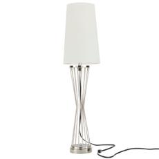 "33"" AKT01 SILVER METAL BUFFET LAMP"