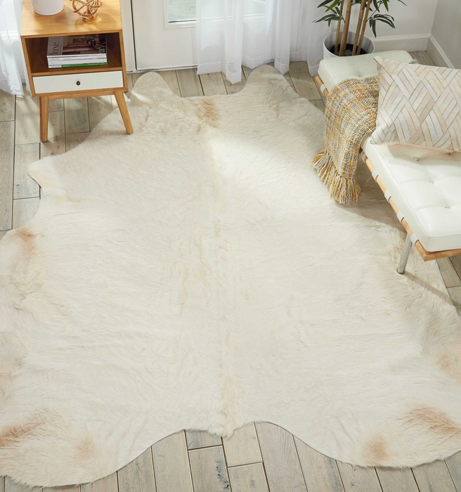 Couture Rug Br301 White 5 X 7 Throw