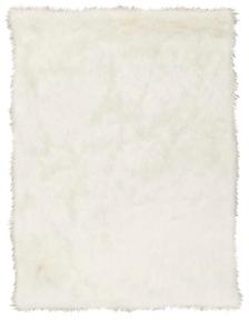 """FUR FL100 WHITE 50"""" x 60"""" THROW BLANKET"""