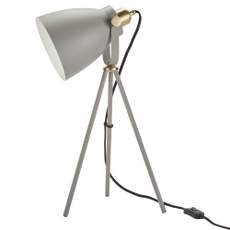 """21"""" HAD02 GREY METAL TRIPOD LAMP"""