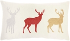 """HOLIDAY PILLOWS L1909 RED 12"""" x 21"""" THROW PILLOW"""