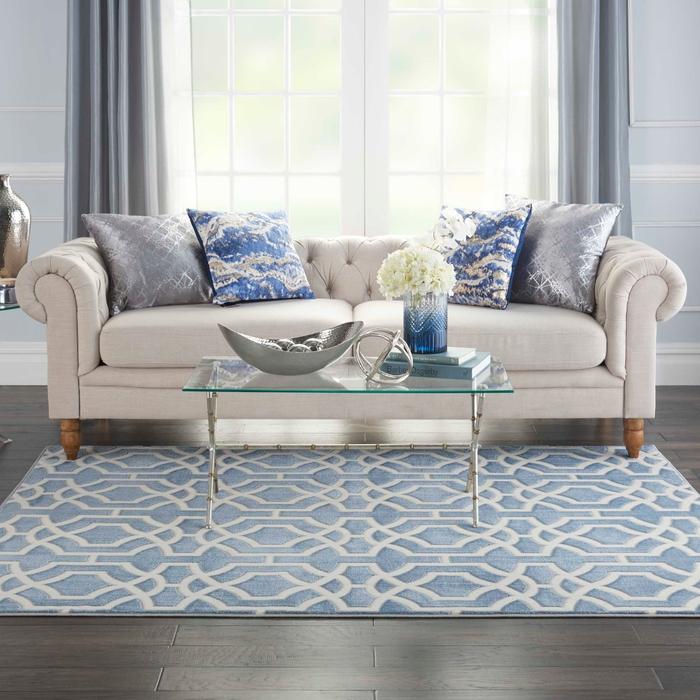 Home DÉcor Joli Imhr2 Blue White Area Rug, White Living Room Rug