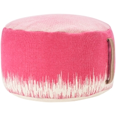 """LIFE STYLES AS263 HOT PINK 20"""" X 20"""" X 12"""" POUF"""