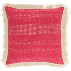 """LIFE STYLES AS301 HOT PINK 18"""" X 18"""" THROW PILLOW"""