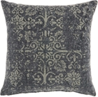 """LIFE STYLES GT657 CHARCOAL 22"""" x 22"""" THROW PILLOW"""