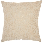 """LIFE STYLES ST131 IVORY GOLD 18"""" x 18"""" THROW PILLOW"""