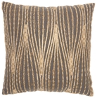 """LIFE STYLES ST172 CHARCOAL 18"""" x 18"""" THROW PILLOW"""