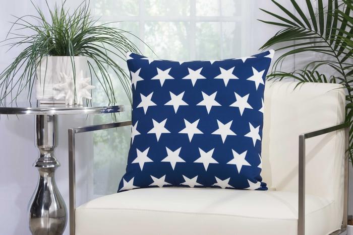 Outdoor Pillows As215 Navy White 20 X