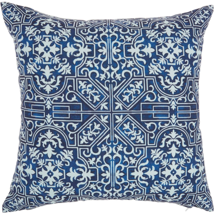 Outdoor Pillows Bj078 Navy 18 X 18 Throw Pillow