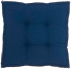 """OUTDOOR PILLOWS QY029 NAVY 18"""" x 18"""" x 3"""" SEAT CUSHION"""