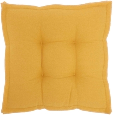 """OUTDOOR PILLOWS QY029 YELLOW 18"""" x 18"""" x 3"""" SEAT CUSHION"""