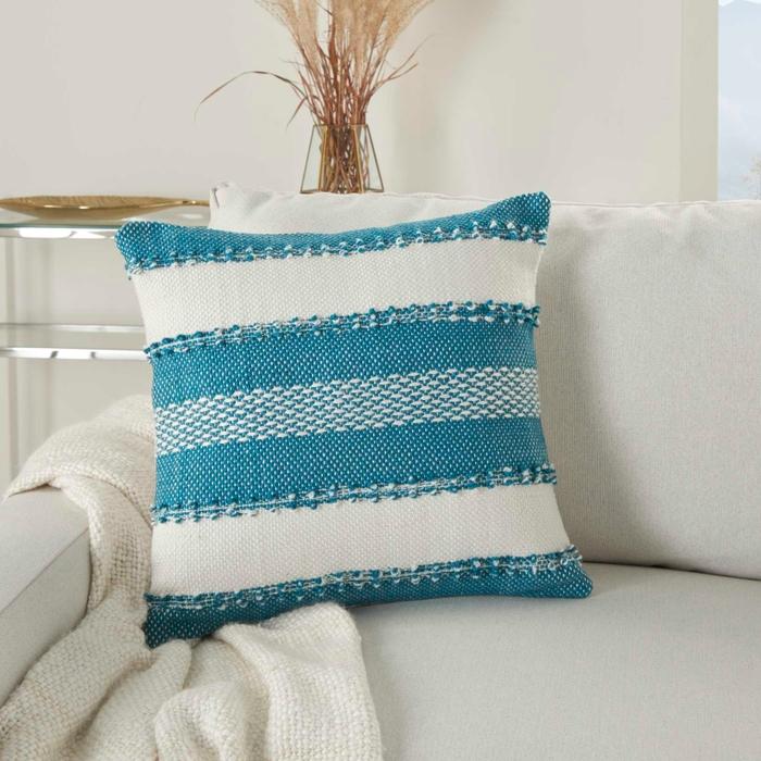 Outdoor Pillows Vj088 Turquoise 18 X 18 Throw Pillow