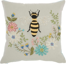 """PLUSHLINES CH343 MULTICOLOR 18"""" x 18"""" THROW PILLOW"""