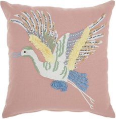 """PLUSHLINES CH422 MULTICOLOR 18"""" x 18"""" THROW PILLOW"""