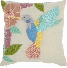 """PLUSHLINES CH425 MULTICOLOR 18"""" x 18"""" THROW PILLOW"""