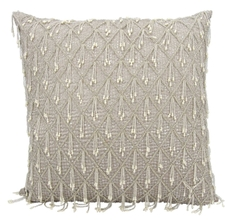 """COUTURE LUSTER HR105 GREY 20"""" x 20"""" THROW PILLOW"""