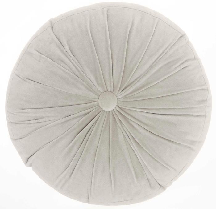 Life Styles Rc190 Light Grey 16 X 16 Round Throw Pillow