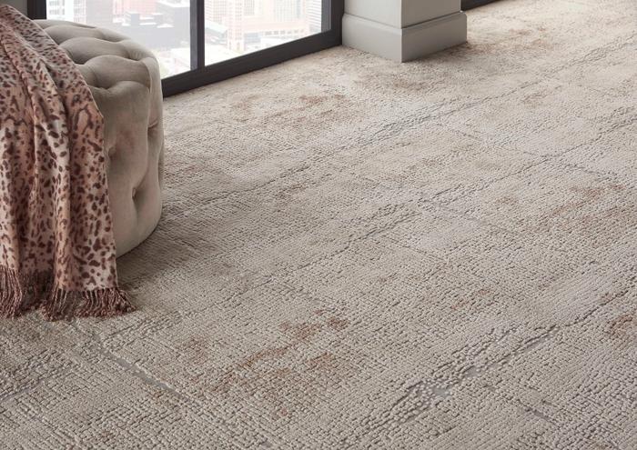 Rustic Textures Abstract Mosiac Rus06 Sandstone Broadloom Broadloom Carpet
